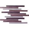 """Epoch Architectural Surfaces Narrows 12"""" x 1"""" Glass Textured Mosaic in Plum"""