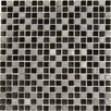 "<strong>Epoch Architectural Surfaces</strong> Dancez Fandango 5/8"" x 5/8"" Stone and Glass Blend Mosaic in Black"