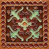 """<strong>Mission 6"""" x 6"""" Hand-Painted Ceramic Decorative Tile in Oaxaca</strong> by Solistone"""