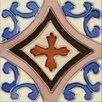 "Solistone Mission 6"" x 6"" Hand-Painted Ceramic Decorative Tile in Trebol"