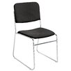 National Public Seating Ebony Fabric Signature Stack Chair