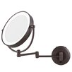 <strong>Zadro</strong> LED Lighted 1X/10X Magnification Wall Mount Mirror