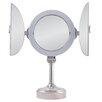 Zadro Surround Lighted Tri-Fold Pedestal Vanity Mirror