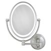 Zadro Cordless Dual LED Lighted Oval Wall Mount Mirror with 1X and 10X Magnification