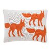 DwellStudio Foxes Knit Boudoir Pillow