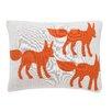 DwellStudio Foxes Knitted Boudoir Pillow