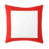DwellStudio Modern Border Vermillion Euro Sham Pair