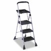 Max Work Steel Platform Step Stool, 22w x 3d x 61h, Black