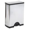 simplehuman 46 L / 12.5 Gal, Rectangular Step Trash Can Recycler, Stainless Steel