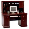 <strong>Bush Industries</strong> Birmingham  Cherry Executive Desk with Hutch