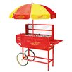 <strong>Vintage Carnival Hot Dog Cart with Umbrella</strong> by Nostalgia Electrics