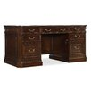 Hooker Furniture Westbury Executive Desk with 3 Right & 3 Left Drawers
