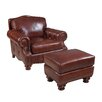 Hooker Furniture Stationary Arm Chair and Ottoman