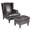Hooker Furniture Wingback Chair and Ottoman