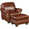 Hooker Furniture Arm Chair and Ottoman