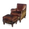 Hooker Furniture Club Chair with Ottoman