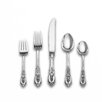 Rose Point 66 Piece Dinner Flatware Set with Dessert Spoon