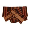 HiEnd Accents Embroidered Moose Stripe 3 Piece Towel Set