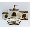 HiEnd Accents Pine Cone 4 Piece Birch Bath Set (Set of 2)