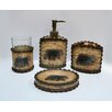 HiEnd Accents 4 Piece Rustic Bear Bath Set (Set of 2)