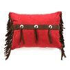 <strong>HiEnd Accents</strong> Cheyenne Faux Tooled Leather Polyester Pillow