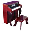 Elite Spinet Piano in Mahogany and Black