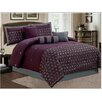 LaCozee Keira 7 Piece Embroidered Comforter Set