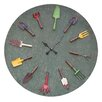 "<strong>Creative Co-Op</strong> Oversized 36"" Garden Tools Wall Clock"