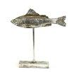 Creative Co-Op Waterside Resin Fish on Pedestal Figurine