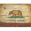 <strong>Vintage Signs</strong> Red Horse California Flag Vintage Advertisement Plaque