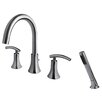 Ultra Faucets Contemporary Two Handle Deck Mount Roman Tub Faucet with Hand Shower