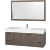 "Wyndham Collection Amare 60"" Single Vanity Set"