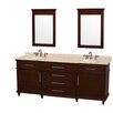 "Wyndham Collection Berkeley 80"" Double Vanity Set"