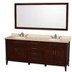 "Wyndham Collection Hatton 80"" Bathroom Vanity Set with Double Sink"