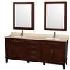 "Wyndham Collection Hatton 80"" Double Bathroom Vanity Set"