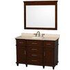 "Wyndham Collection Berkeley 48"" Single Bathroom Vanity Set with Mirror"