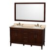 "Wyndham Collection Hatton 60"" Bathroom Vanity Set with Double Sink"