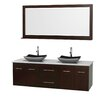 "Wyndham Collection Centra 72"" Double Bathroom Vanity Set"