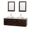 "Wyndham Collection Centra 72"" Double Bathroom Vanity Set"