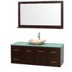 "Wyndham Collection Centra 60"" Single Bathroom Vanity Set with Mirror"