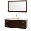 """Wyndham Collection Centra 60"""" Bathroom Vanity Set with Single Sink"""