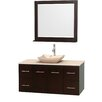 "Wyndham Collection Centra 48"" Bathroom Vanity Set with Single Sink"