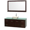 "Wyndham Collection Centra 60"" Bathroom Vanity Set with Single Sink"