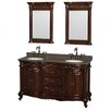 "Wyndham Collection Edinburgh 61"" Double Bathroom Vanity Set with Mirror"