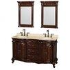 "Wyndham Collection Edinburgh 60"" Double Bathroom Vanity Set with Mirror"