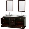 "Wyndham Collection Acclaim 72"" Double Bathroom Vanity Set"