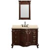 "Wyndham Collection Edinburgh 48"" Single Bathroom Vanity Set with Mirror"