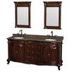 "Wyndham Collection Edinburgh 72"" Double Bathroom Vanity Set with Mirror"