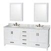"Wyndham Collection Sheffield 80"" Double Bathroom Vanity Set"