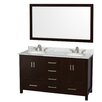 "Wyndham Collection Sheffield 60"" Bathroom Vanity Set with Double Sink"
